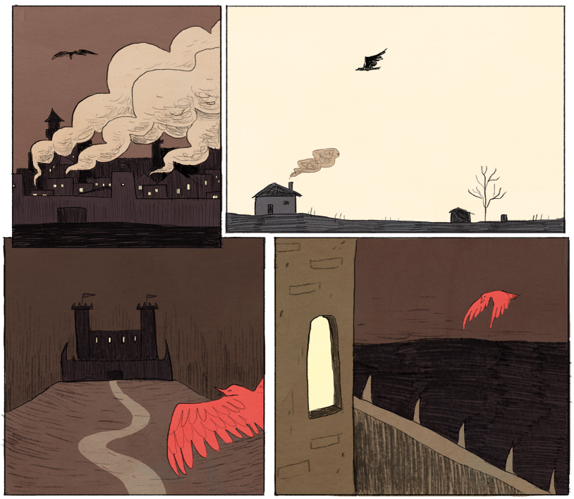 Noelle is just killing it with this Nimona stuff. The colors! I'm in love.  Go here to start from the beginning.