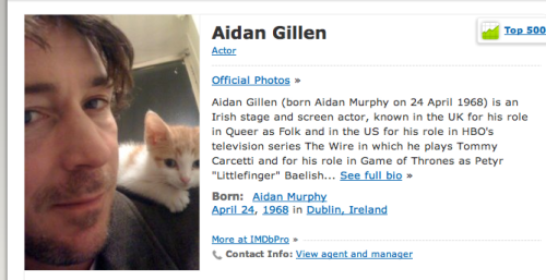 This might be my favorite IMDb profile pic yet.
