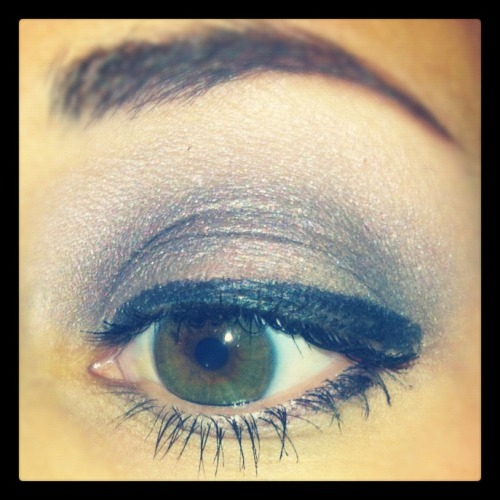 My eye makeup for today: L'Oreal HiP Electrified Maybelline Gel Liner in Blackest Black Revlon Grow Luscious