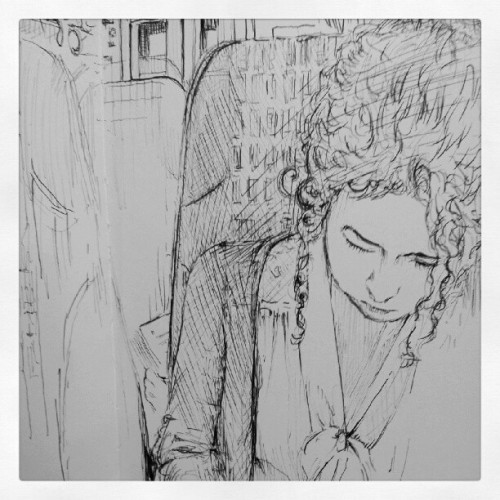 nickcoomber:  Tonight's sketch from the train #moleskine (Taken with Instagram)
