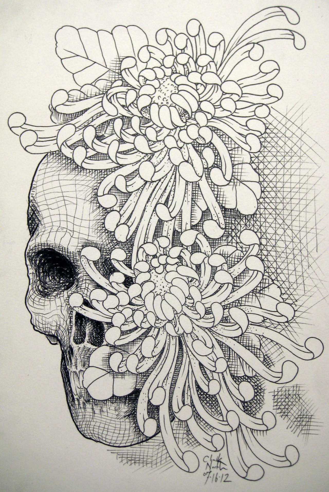 visualgraphic:  Skull Flower