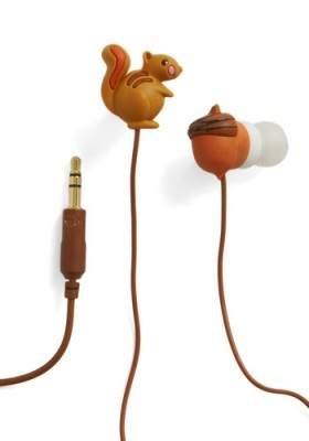 Squirrel earbuds!