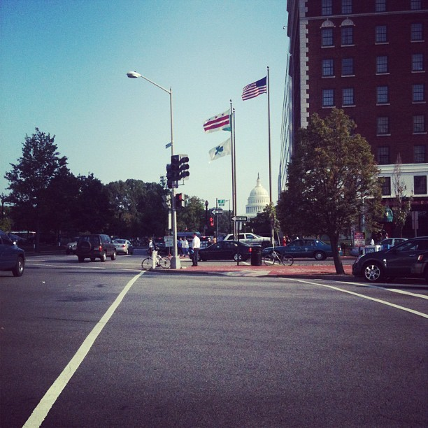 99 degrees, but a nice breeze helps (Taken with Instagram at North Capitol St)
