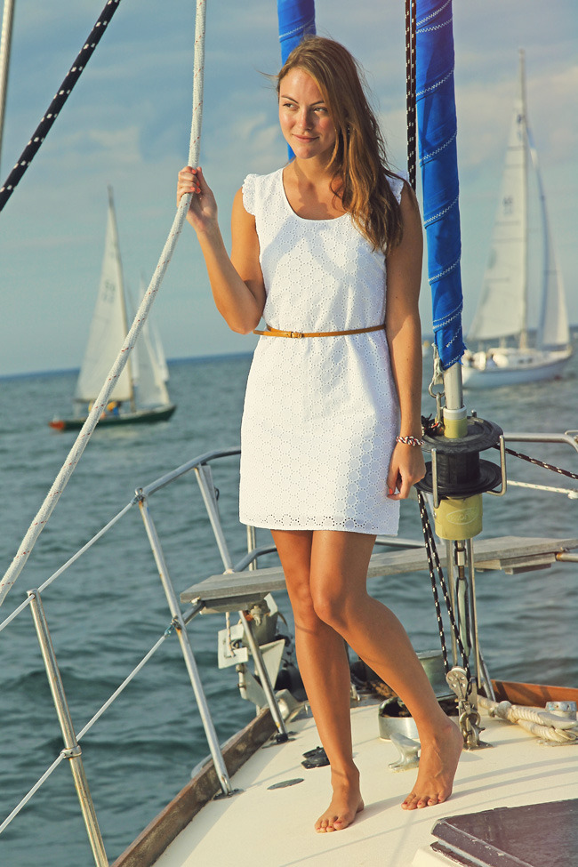 I thought you hated boats… I bet I can wear that dress on or off-shore. :) lizfitstyle:  If only we had a boat….