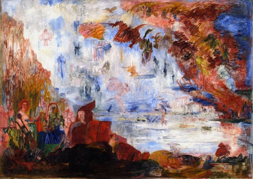 impishillumination:  James Ensor - Tribulations of Saint Anthony