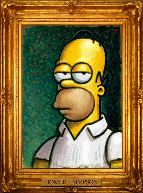 Homer Portrait by Adam Vehige