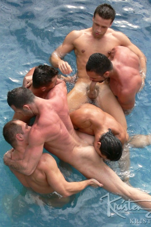 gayestsex:  Pool party orgy
