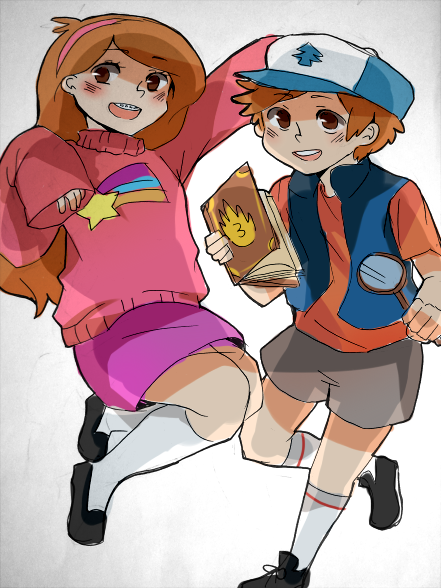 Day 7- More Gravity Falls. Drawn with marker and colored digitally.