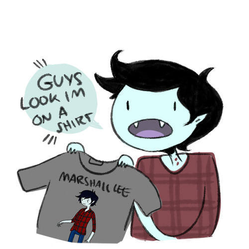 deebree:  did YOU know that you can buy a t-shirt with marshall lee on it at hot topic? did you….  I'm getting this shirt
