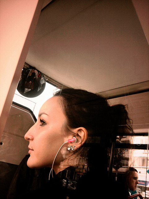 sans titre on Flickr.Passenger with headphones