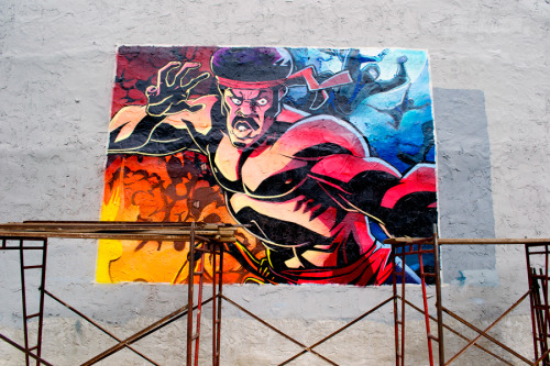 themakedo:  The Final Product. HEF & MEK Black Dynamite mural in Philadelphia.