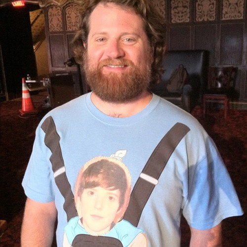 Fake Zach Galifinakis with my face on his shirt… (Taken with Instagram)