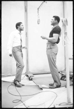 arrectorpili:  Sam Cooke and Cassius Clay (Muhammad Ali)