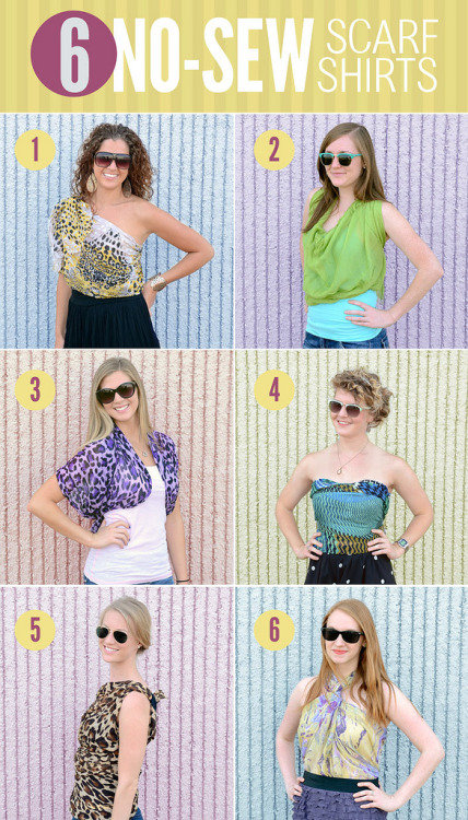 DIY Six No Sew Ways to Wear a Scarf from The Fashion Spot here.