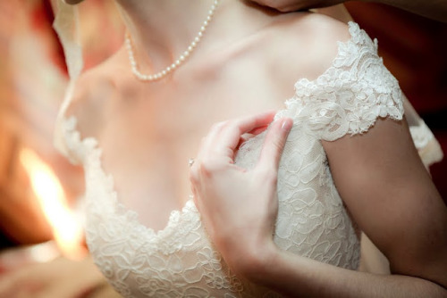 Lace details (via Fabulously Wed: Felicia and James)
