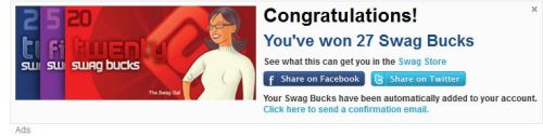 OH YEAH!!!!!!!!!!!! JUST WON 27 SWAGBUCKS!! http://www.swagbucks.com/refer/trevmusicdude
