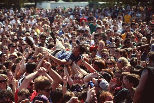 "I crowdsurfed during Ty Segall's ""Girlfriend"" on Sunday and Pitchfork photographed me doing it. Check out their full set of crowd shots from the festival HERE."