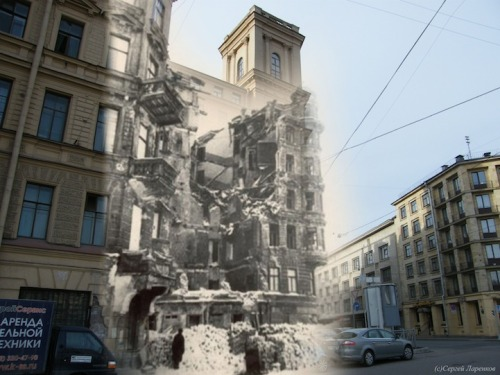albinosquirrels:  designcloud:  The Ghosts of World War II by Sergey Larenkov Taking old World War II photos, Russian photographer Sergey Larenkov carefully photoshops them over more recent shots to make the past come alive. Not only do we get to experience places like Berlin, Prague, and Vienna in ways we could have never imagined, more importantly, we are able to appreciate our shared history in a whole new and unbelievably meaningful way.  This is eerily touching.