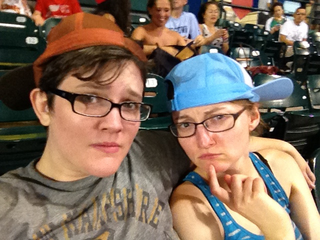 We are concerned that our rally caps will not properly ensure a comeback from 4-1 in the top of the 7th.   At this short-season single-A ten-buck-ticket baseball game.   Which is pretty uneventful so far, but full of beer and hot dogs.