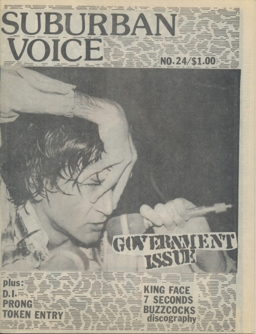 Suburban Voice No. 24, 1988. Published by Al Quint, Swampscott, MA.