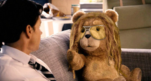 Ted's in dreads