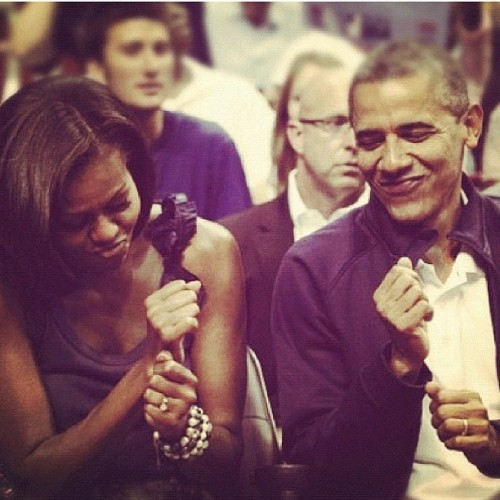 beam-meh-up-scotty:  The Obama's (Taken with Instagram)