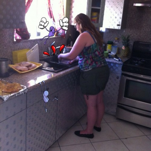 My woman making her man a dinner 👍, #iphone4 #iphoneonly #instagramhub #iphonography #iphoneography #iphotography #instagram #instagramers #instadaily #instagood #instag #ig #igers #igdaily #igCalifornia #ca #california #cali #socals #iphonephotography #photography #jj #instagood #teamiphone #food #kitchen (Taken with Instagram)