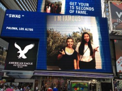 on tha big screen at times square