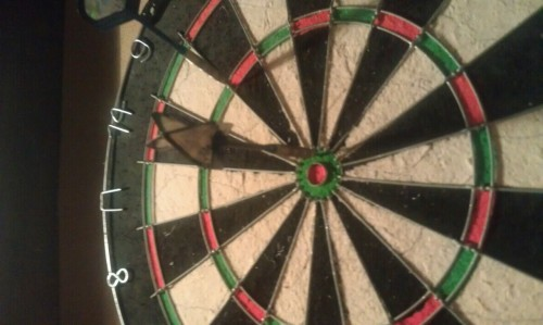 thatmeggirl:  Harold is very good at darts.    I'm not bad.
