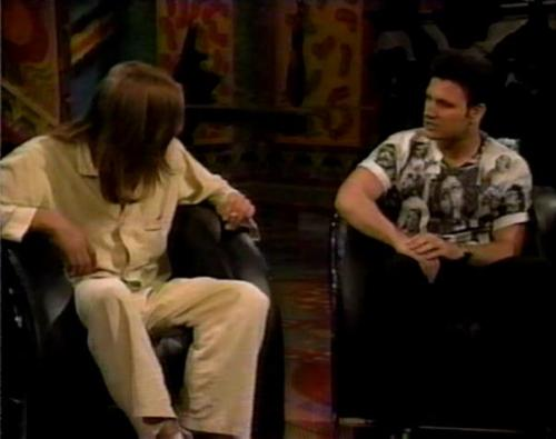 Dave in his Jesus shirt and Evan Dando in his PJs.
