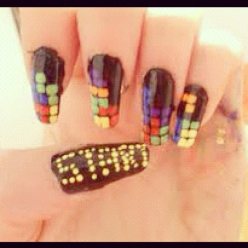 #tetris #nailart must have!! (Taken with Instagram)
