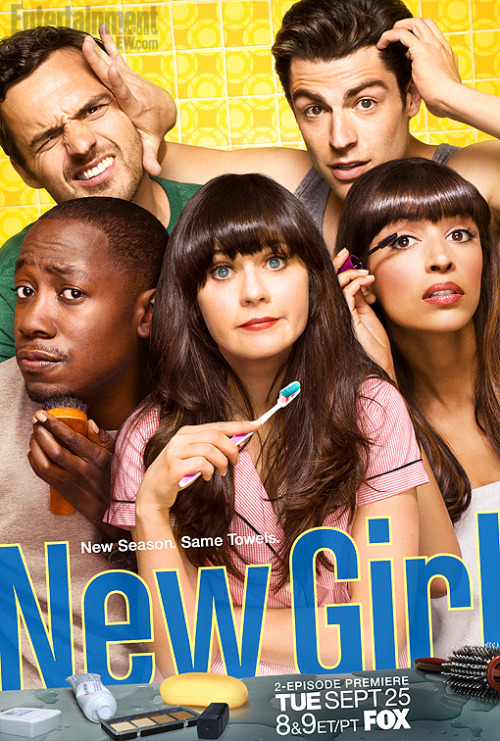 The new New Girl season two promo poster is out, and all we can think is, woah, that's a lot of shiny hair.