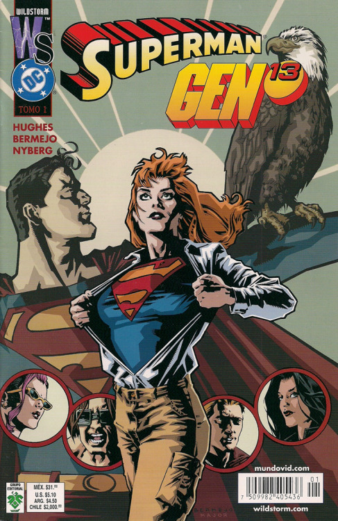 archivovivo:  Superman / Gen13 Tomo 1 (Vid - abr 2002) Edición original: Superman / Gen13 1 and 2 (Wildstorm - jun/jul 2000) Adam Hughes: historia Lee Bermejo: trazos John Nyberg: tintas
