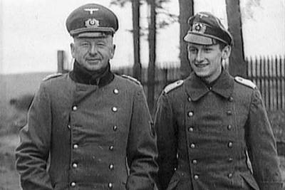 Field Marshal Erich von Manstein and his son, then a Lieutenant.
