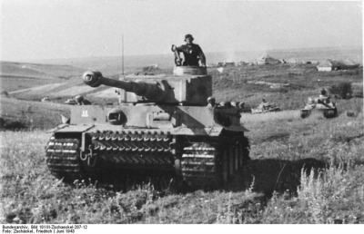 The PzKw IV, in service with the German army through most of the war. It was the workhorse of the armored force.