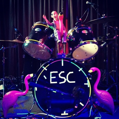 Pee Wee Herman and the Shrine of Flamingos. (Taken with Instagram at Brick & Mortar Music Hall)