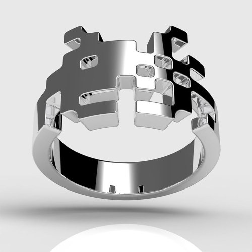 Space Invaders Ring by Tjep |  This is sweet.