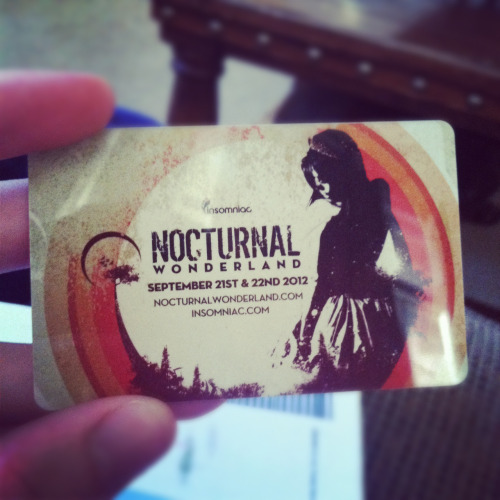 Nocturnal Wonderland here I come!
