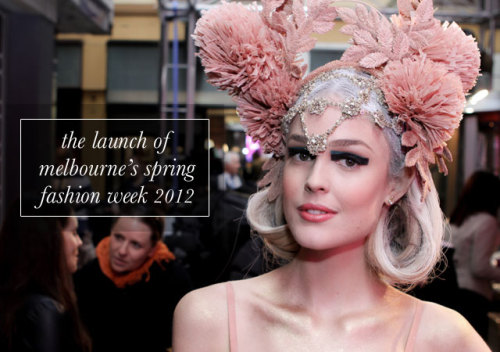 Taken at this morning's Melbourne Spring Fashion Week [MSFW] launch