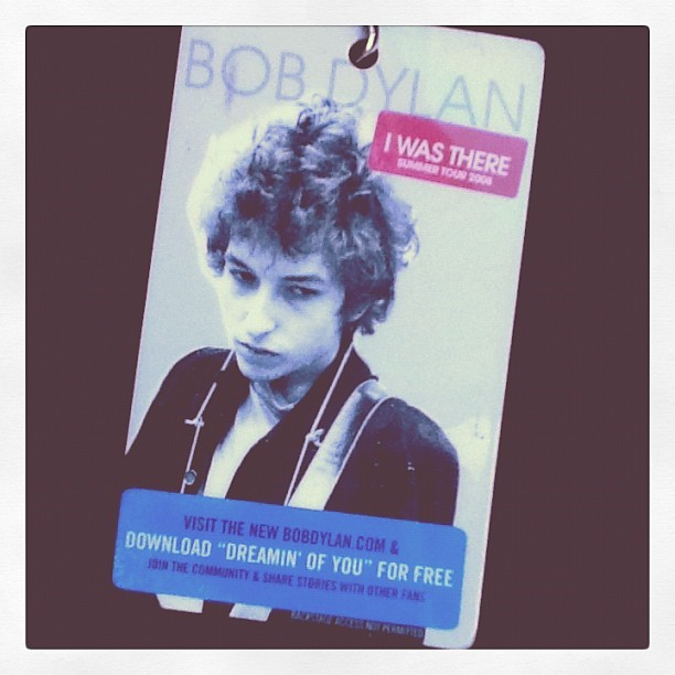 "(Taken with Instagram)  One year, I snuck in backstage at a Bob Dylan concert behind the keyboardist of Tom Petty & The Heartbreakers… I brushed shoulders/met with the likes of Johnny Depp, Sean Penn, Jakob Dylan and more for about two hours.  Bob Dylan really is ""paranoid"" so it was a big deal. :)"
