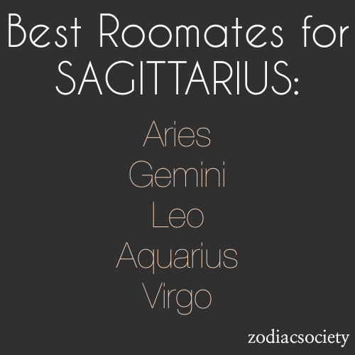 Oh lookie here, I'm already rooming with 2 people who are on this list: Aries and Gemini. And I gotta say that this is very accurate for those 2 lol!