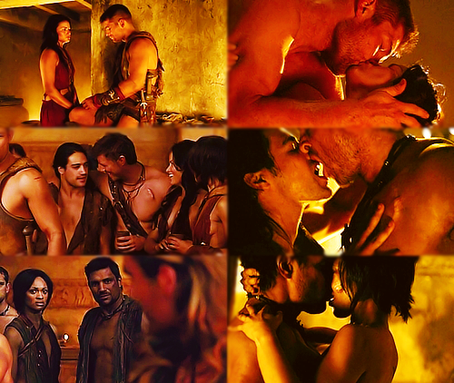 Vengeance's hot couples.  nnnnngh. here are some reasons to watch spartacus, dearest followers. good LORD.