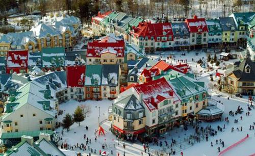 urbanination:  Mont Tremblant's pedestrian only village.