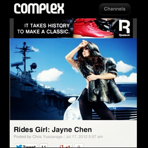 Find me on Complex Magazine at Complex.com ☺ (Taken with Instagram)