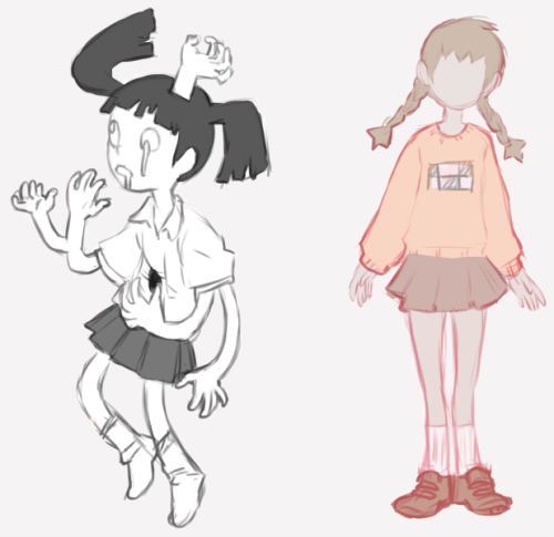 skullcaps:  Bluhh yume nikki scribbles from yesterday, I'll draw something better of this some other time, going back to sleep now