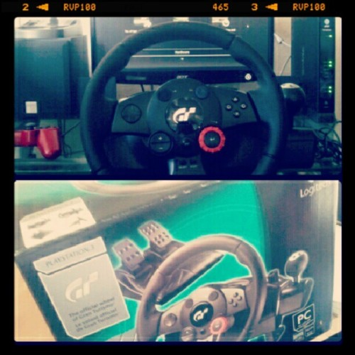 New steering wheel set-up! #gt5 #logitech #steeringwheel #ps3 (Taken with Instagram)