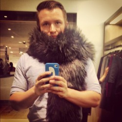 seriously ready for fall. #fall #fur #scarf #marcjacobs #fw12 #fashion #work  (Taken with Instagram at Bloomingdale's)