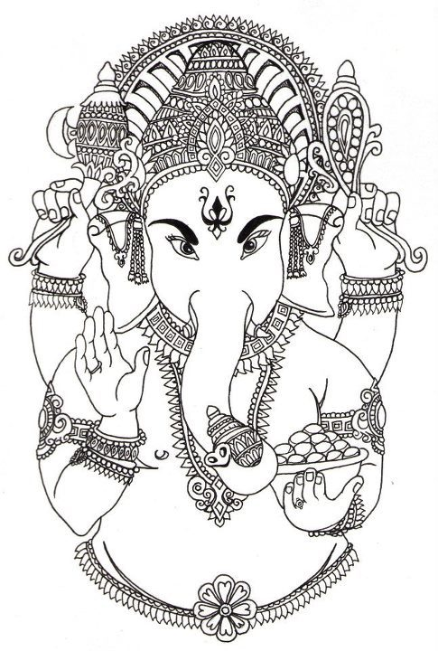 Ganesha 10 x 7 pen & ink
