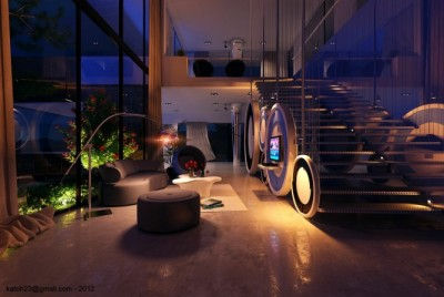 homedesigning:  Contemporary Sitting Area  stunning architecture