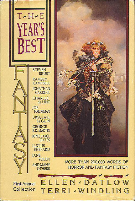 Year's Best Fantasy 1 (1988 BCE HB) by sdobie on Flickr